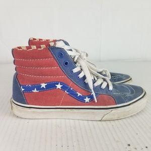 VANS RED WHITE BLUE PATRIOTIC HIGH TOP Sneakers